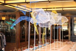 White stuff press event fashion London art installation bespoke prop manufacture prop making event design