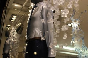 T.M Lewin cool comfort design window display visual merchandising bespoke prop manufacture london