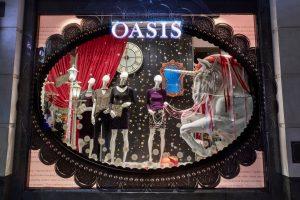 oasis christmas 2017 window display visual merchandising bespoke prop manufacturer
